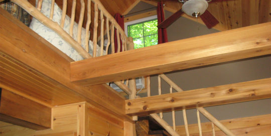 Willemse Contracting - Rustic Stair Railing
