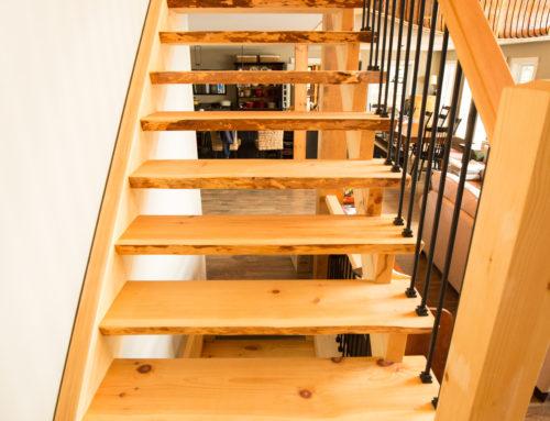 Live edge staircase